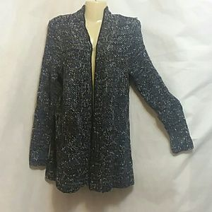 Coldwater Creek Cable Knit Sweater Cardigan